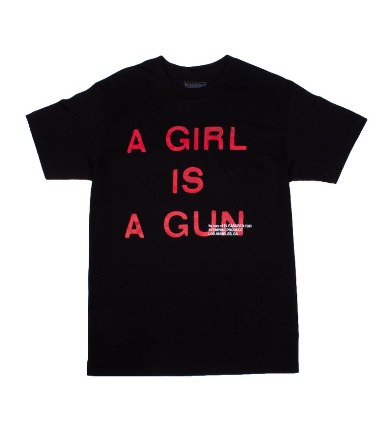 Girl Is A Gun T-Shirt (Black)