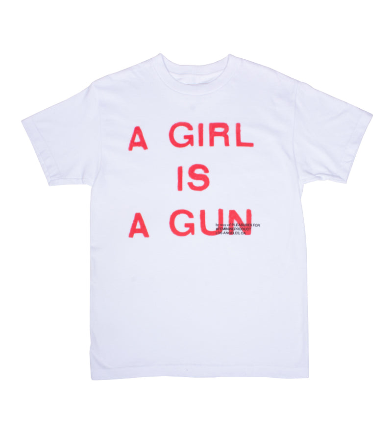Girl Is A Gun Tee (White)
