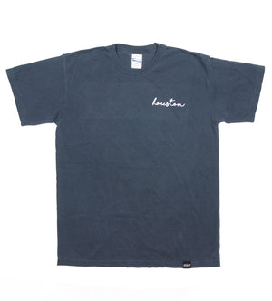 Houston Cursive Tee (Denim)