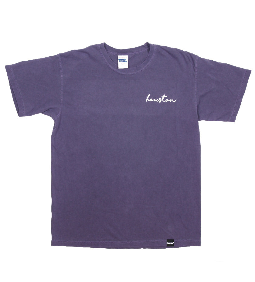 Houston Cursive Tee (Grape)