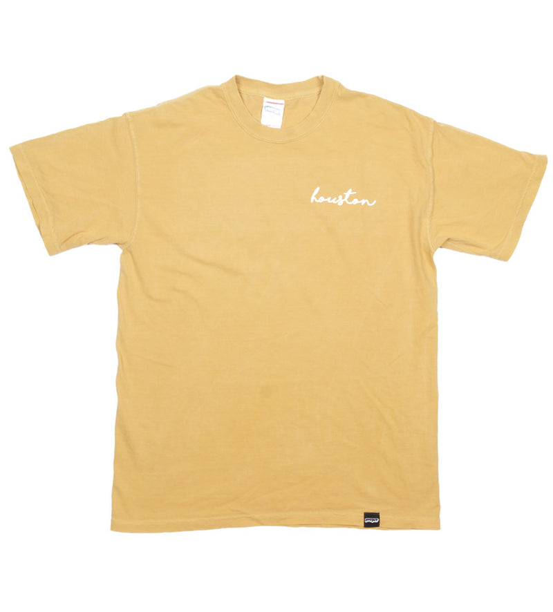 Houston Cursive Tee (Mustard)
