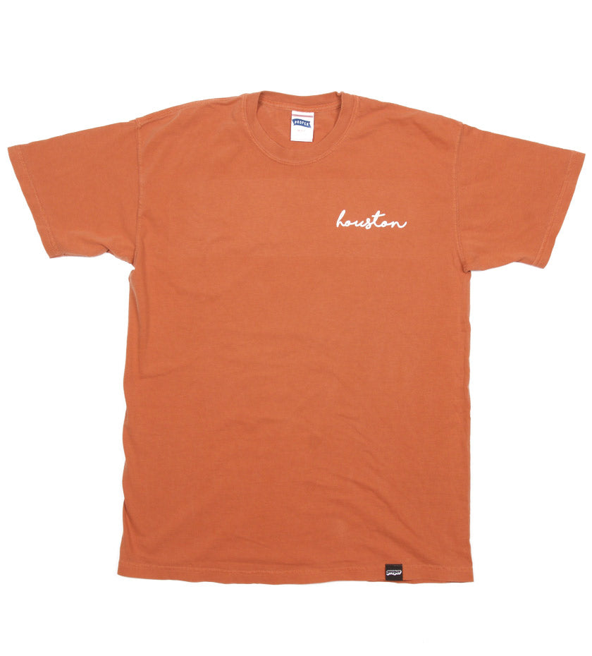 Houston Cursive Tee (Yam)