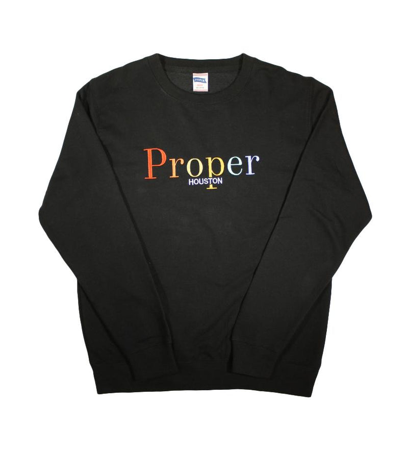 Proper Houston Fall Multi Crewneck (Black)