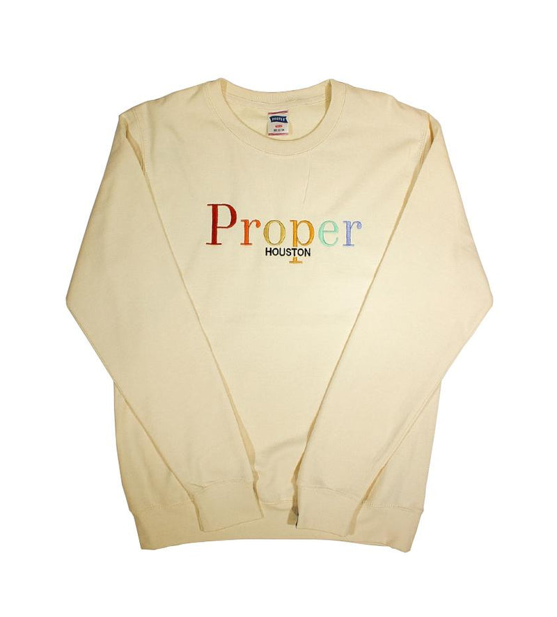 Proper Houston Fall Multi Crewneck (Cream)