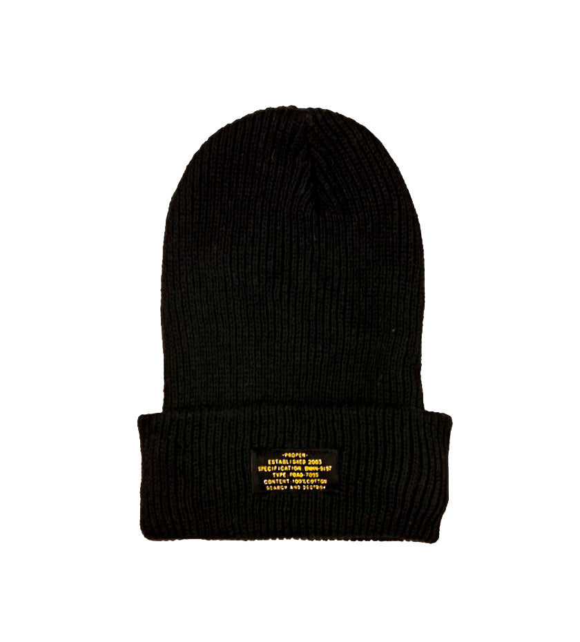 Patch Beanie (Black)