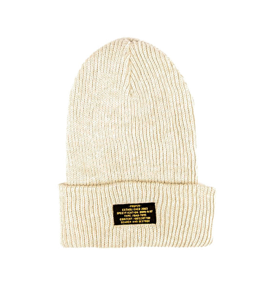 Patch Beanie (Cream)