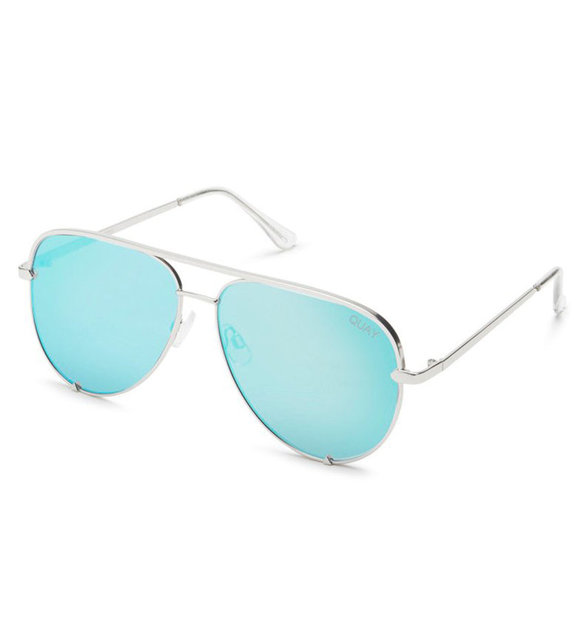 High Key Sunglasses (Silver/Blue)
