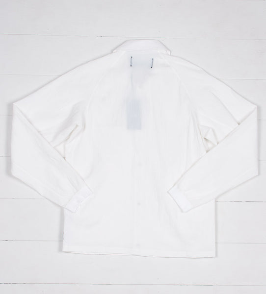 Nylon Coach's Jacket (Winter White)