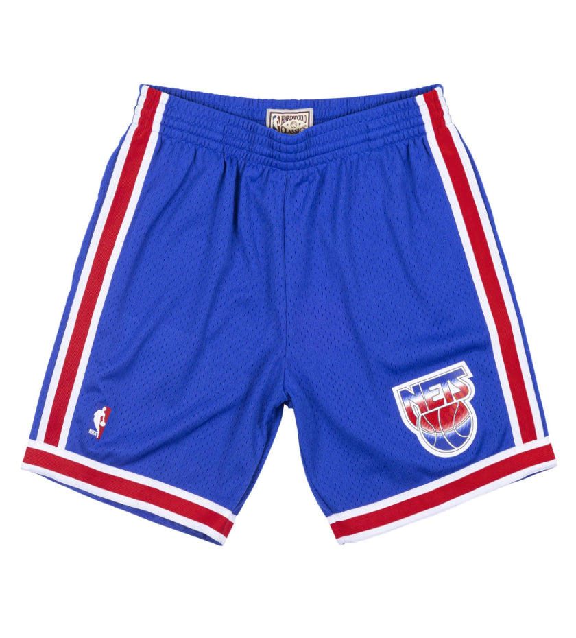 New Jersey Nets Road Swingman Shorts (Royal / Red)
