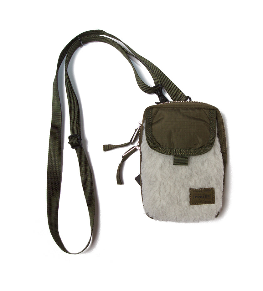 Kerry Shoulder Pouch (Olive/Light Grey)