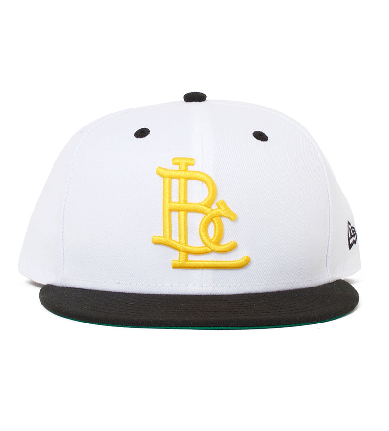 LBC Lock Up 9Fifty Snapback (White / Black / Yellow)