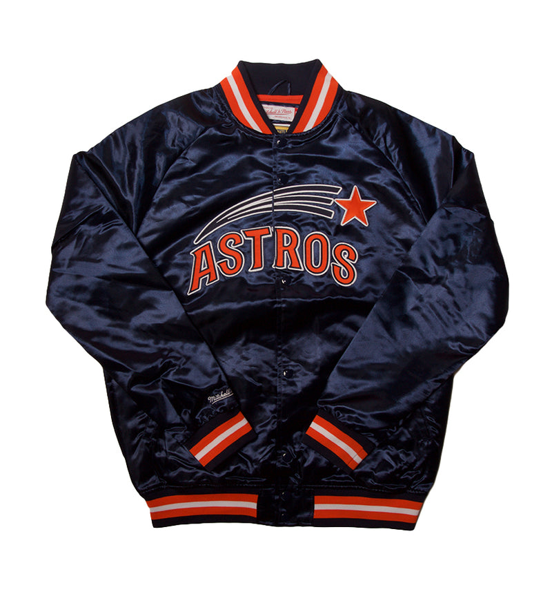 Houston Astros Lightweight Satin Jacket (Navy)