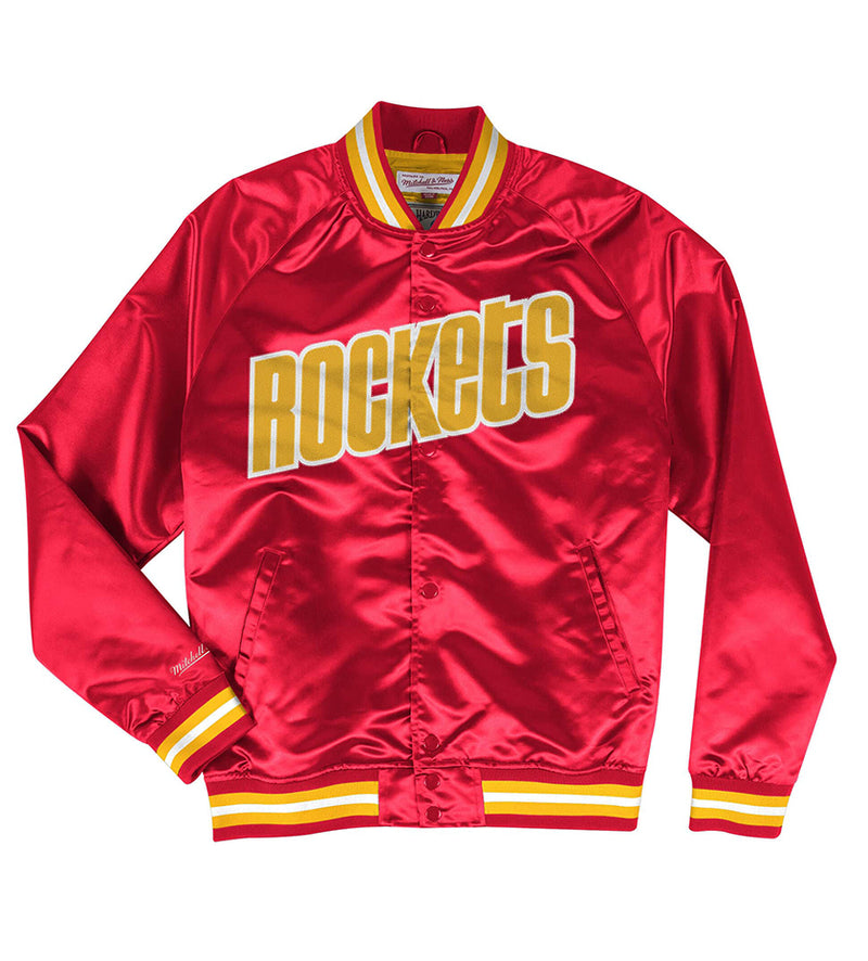 Houston Rockets Lightweight Satin Jacket (Red)