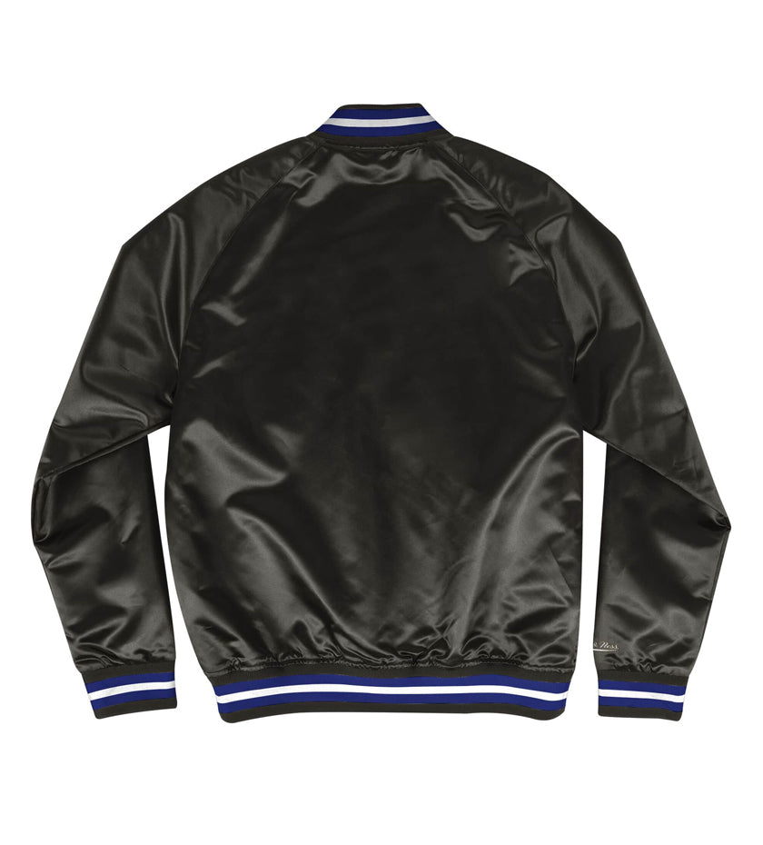 LA Dodgers Lightweight Satin Jacket (Black)
