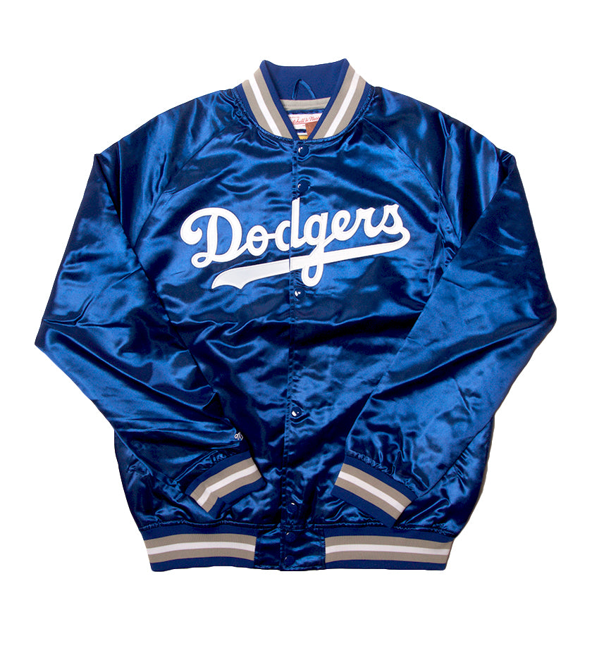 LA Dodgers Lightweight Satin Jacket (Royal)