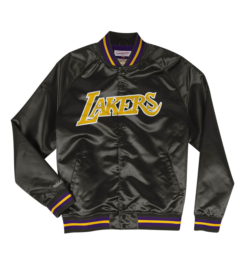 LA Lakers Lightweight Satin Jacket (Black)