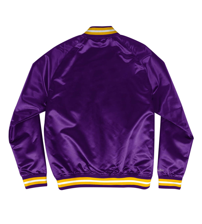 LA Lakers Lightweight Satin Jacket (Purple)
