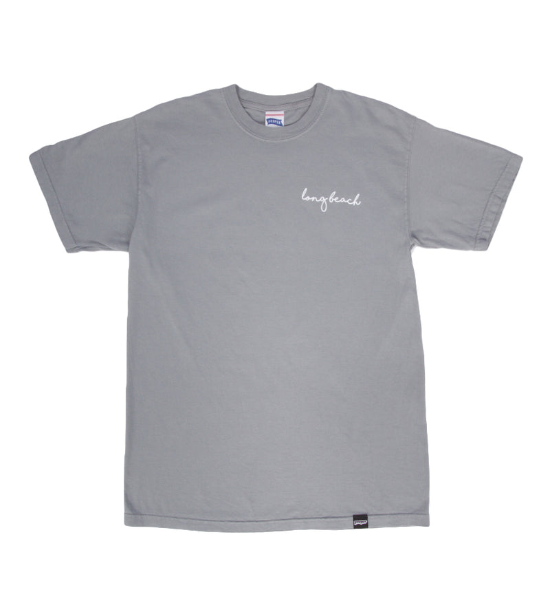 Long Beach Cursive Tee (Grey)
