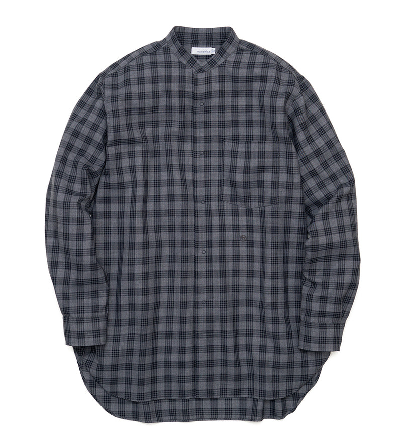 Band Collar Wind Shirt (Gray)