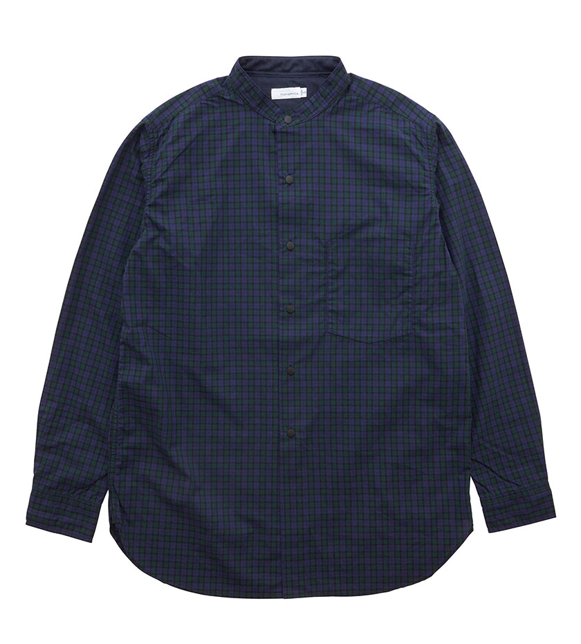 Band Collar Wind Shirt (Black Watch)