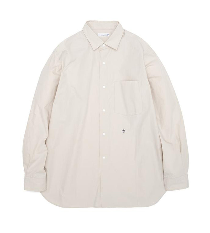 Regular Collar Wind Shirt (Natural)