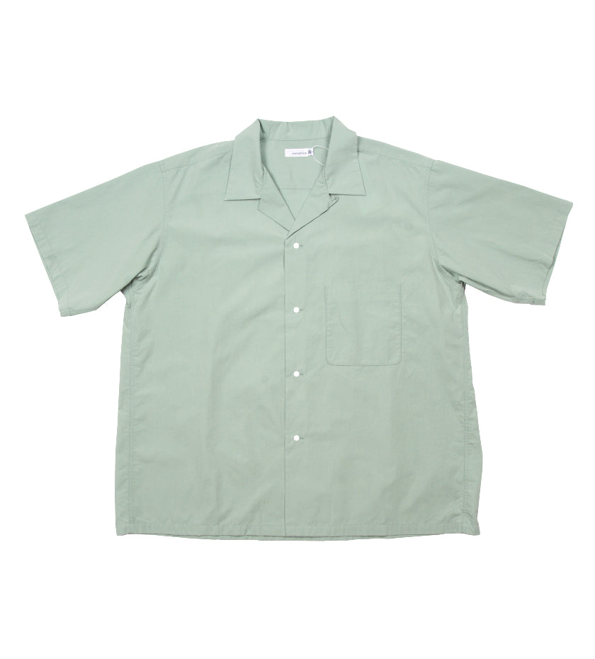 Open Collar Wind H/S Shirt (Mint Green)