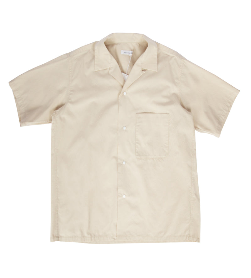 Open Collar Wind H/S Shirt (Natural)