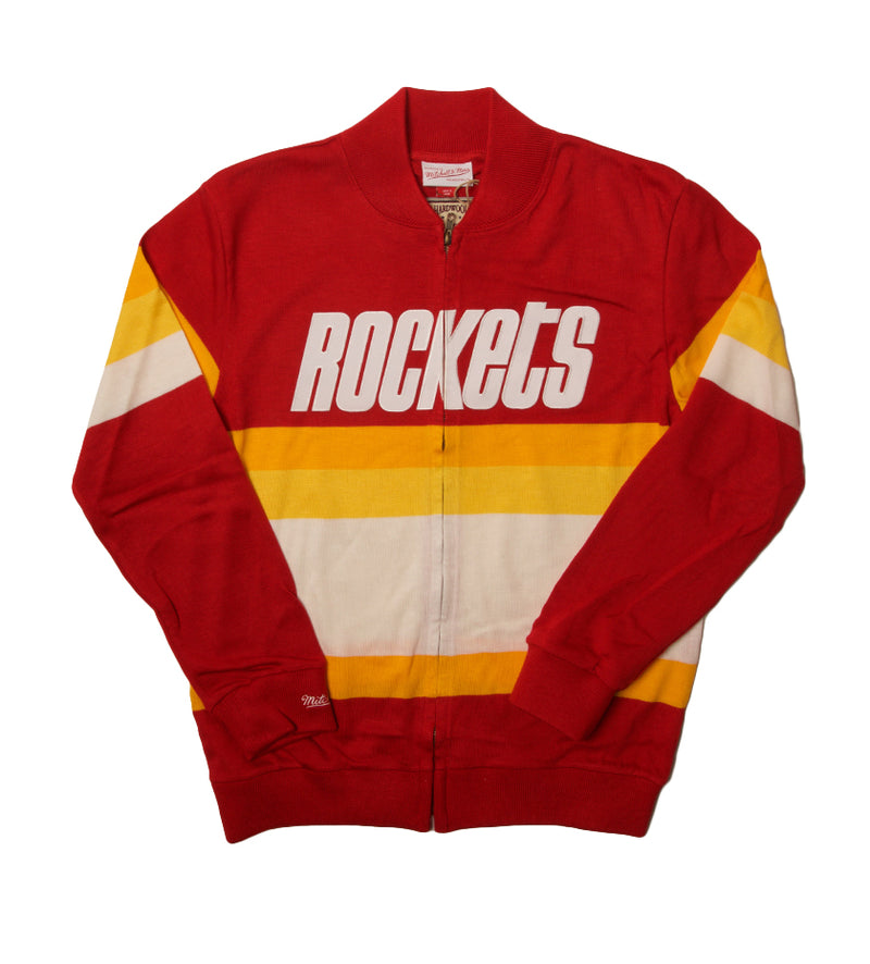 Houston Rockets Front Stripe Zip Sweater (Scarlet Red)