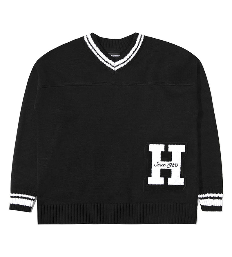 Centennial V-Neck L/S Sweater (Black)