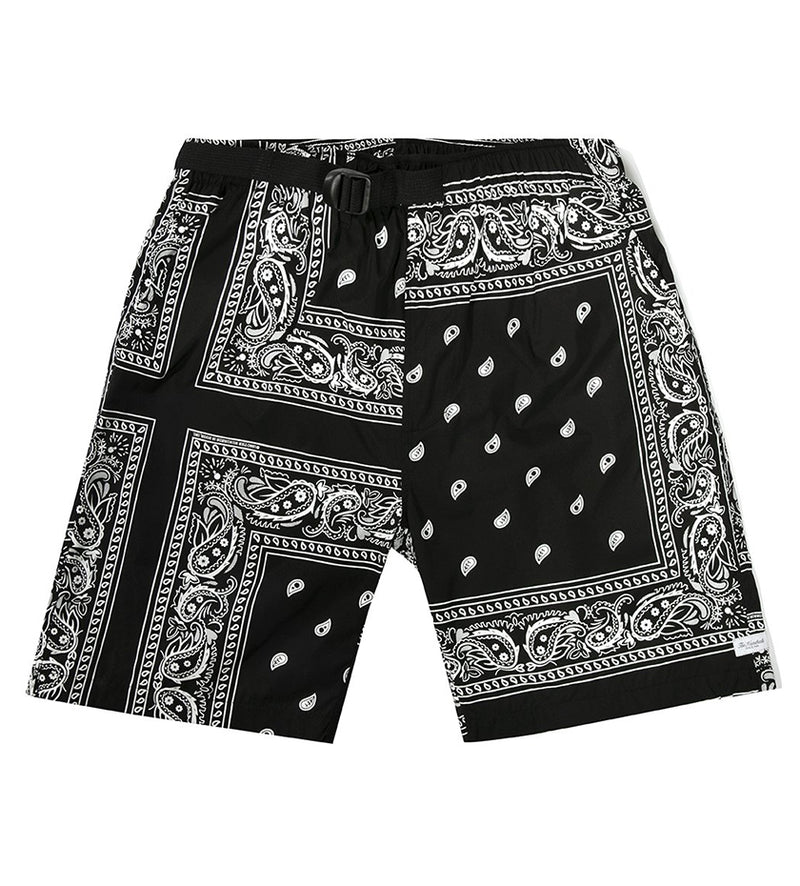 Handkerchief Hybrid Shorts (Black)