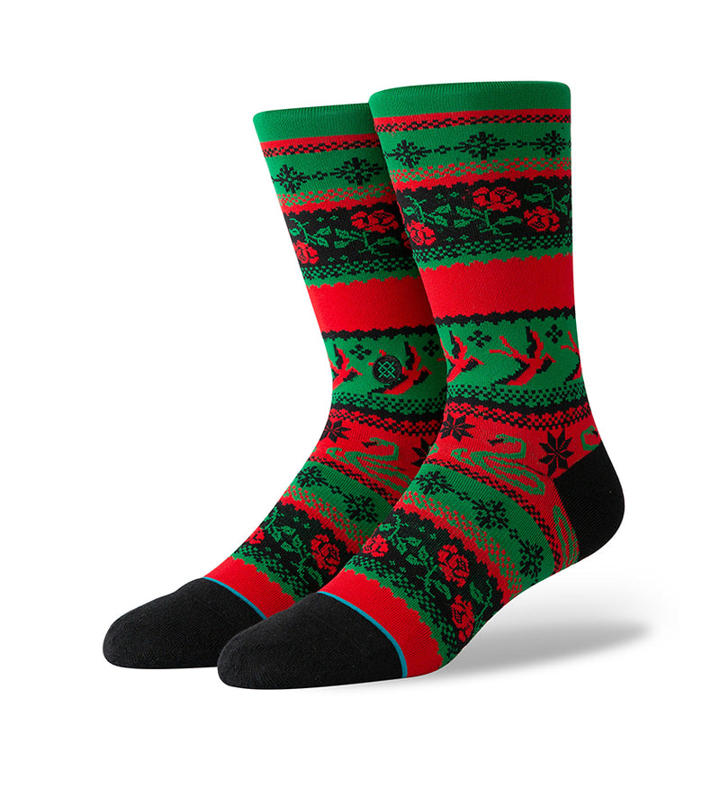 Stocking Stuffer Crew Socks (Green)