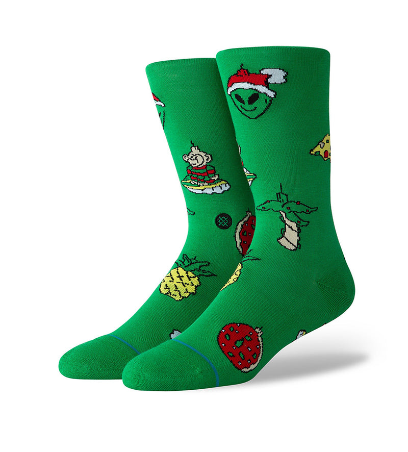 Xmas Ornaments Socks (Green)
