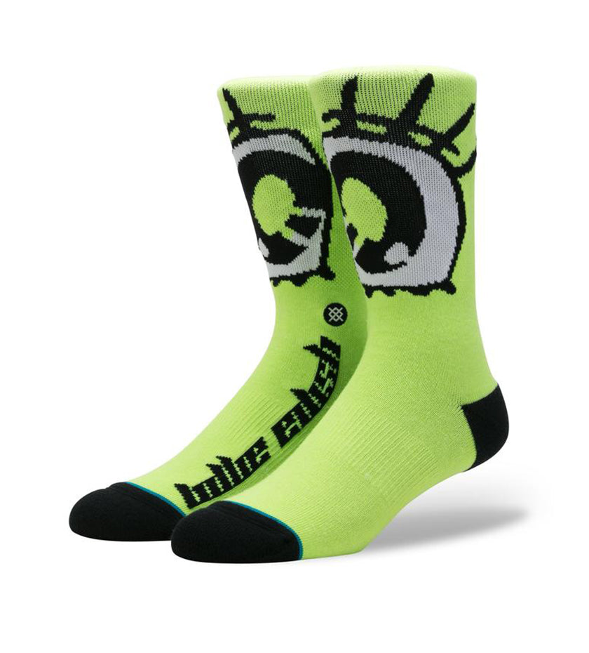 Billie Eilish Anime Eyes Socks (Neon Green)