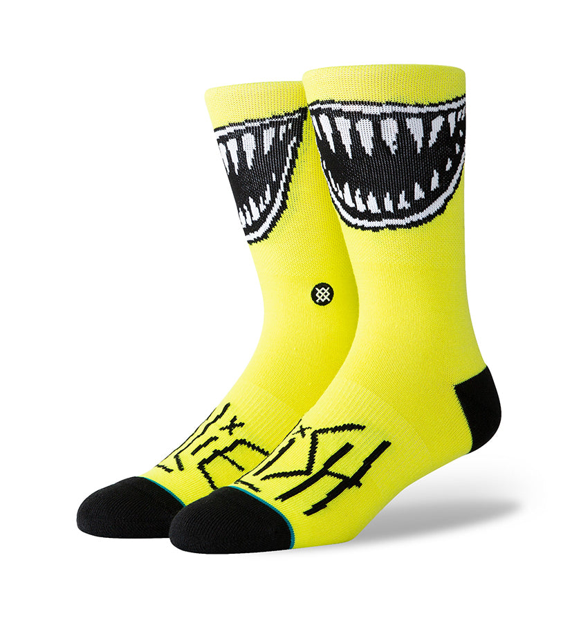Billie Eilish Grin Socks (Neon Yellow)