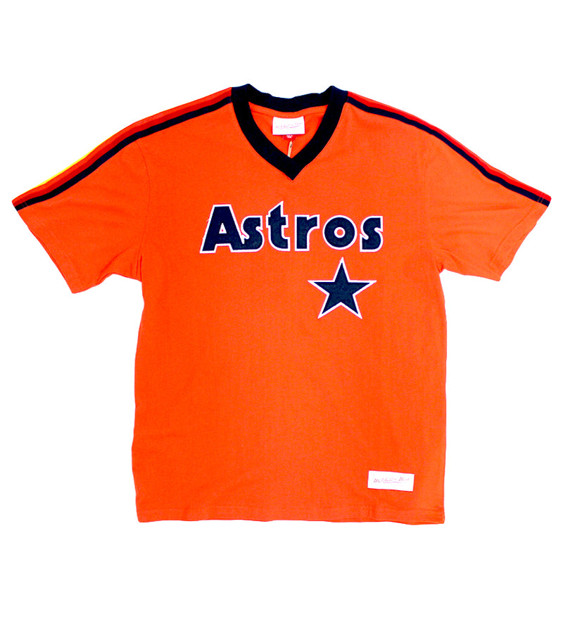 Astros MLB Overtime Win V-Neck (Dark Orange)