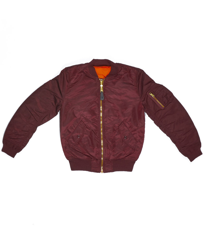 MA-1 Women's Jacket (Maroon)