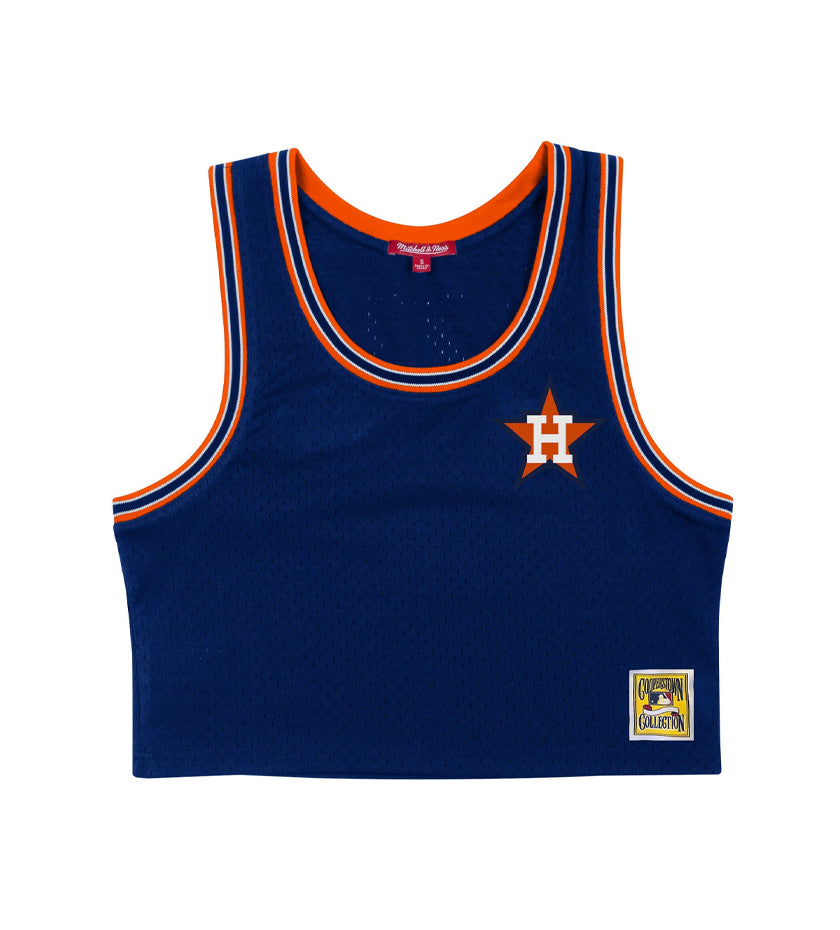Houston Astros Women's Mesh Crop Tank (Navy)