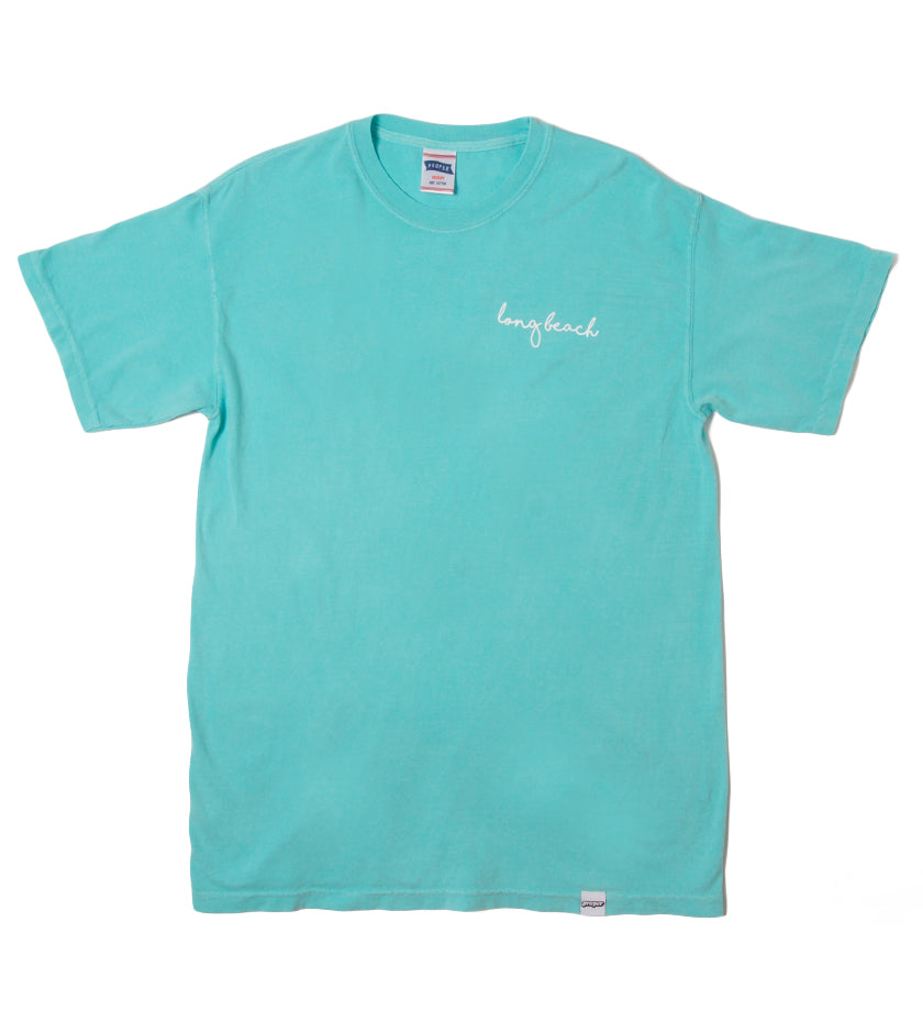 Long Beach Cursive Tee (Chalky Mint)