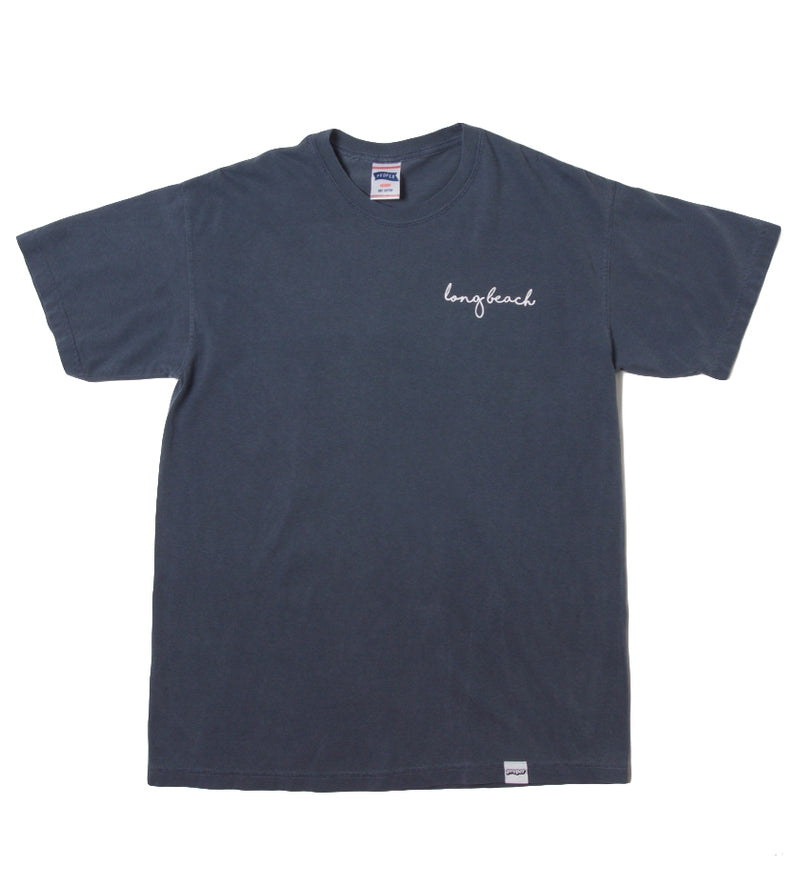 Long Beach Cursive Tee (Denim)