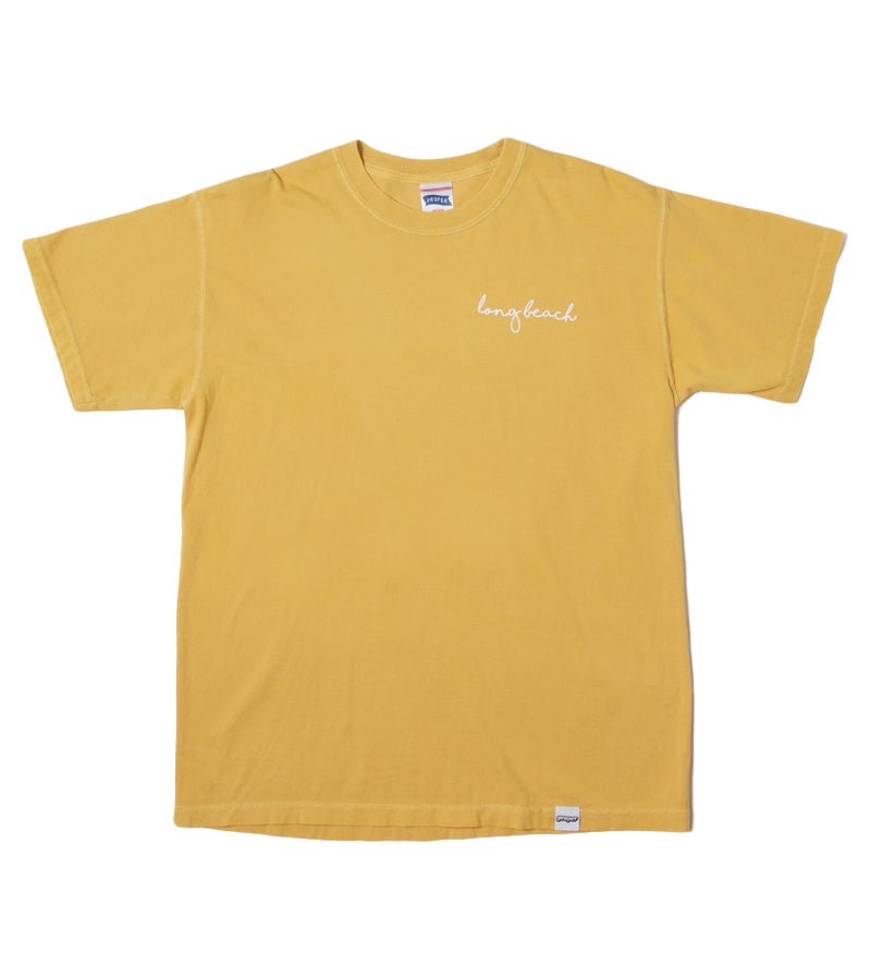 Long Beach Cursive Tee (Mustard)