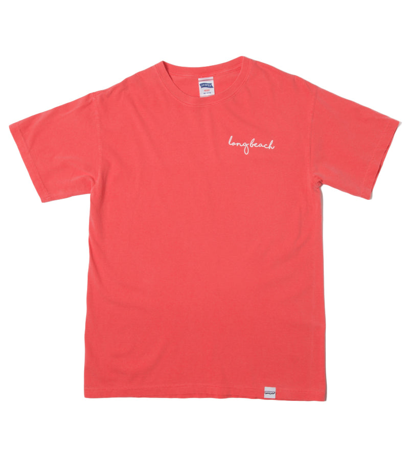 Long Beach Cursive Tee (Watermelon)