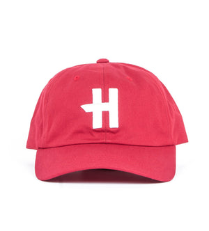 Stock H Dad Hat (Cranberry)