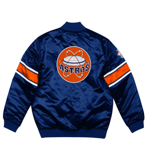 Houston Astros Heavyweight Satin Jacket (Navy)