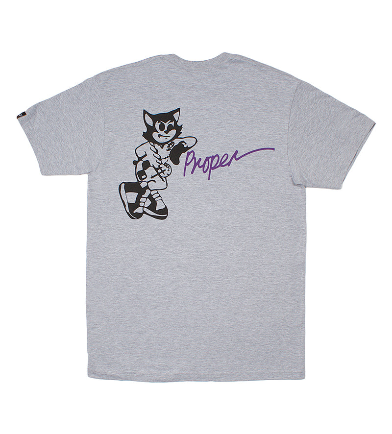 Uptown Cat Tee (Heather Grey)