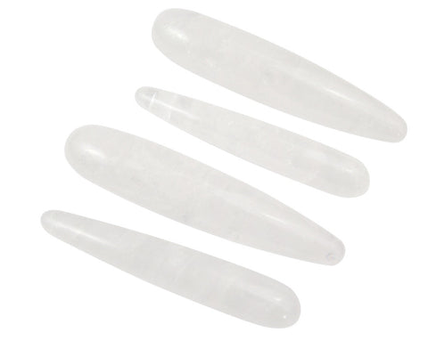 Crystal Quartz Straight Yoni Wands - GIA Certified