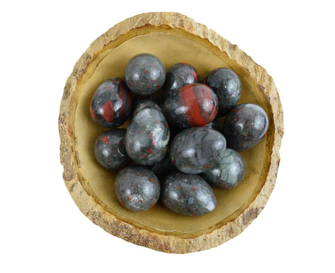 Bloodstone Yoni Eggs - GIA Certified