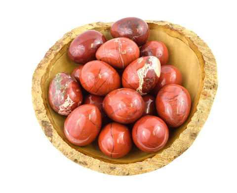 Red Jasper Yoni Eggs - GIA Certified