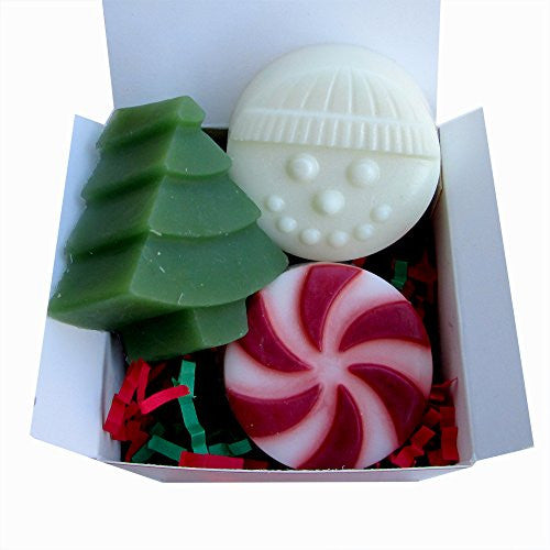 Holiday Soaps Mix gift set (3 soaps)- 3.5 oz total