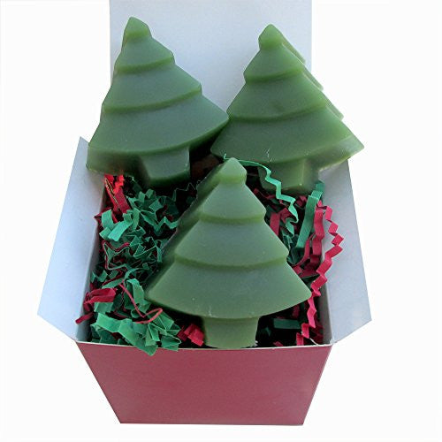 Christmas Tree Soap Gift Box - 3 soaps - 4 oz total