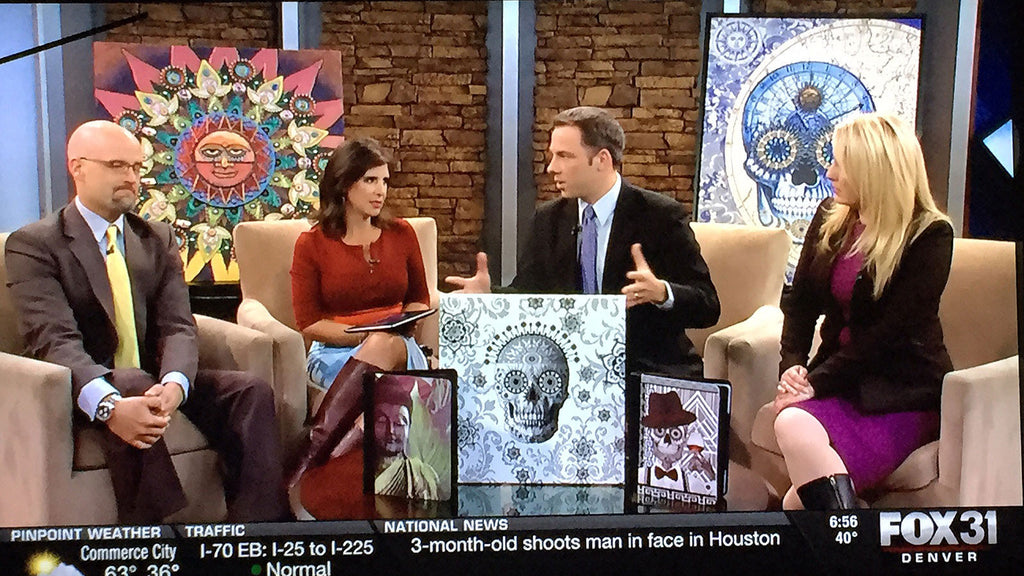 Artist Christopher Beikmann interviewed on Denver Fox 31 Morning Show - KDVR
